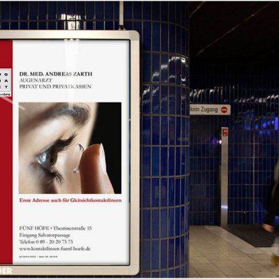 Außenwerbung für Ärzte in München