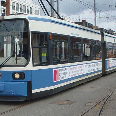 Straßenbahn Außenwerbung in München