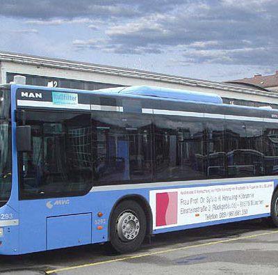 Buswerbung, Werbung auf Bus und Bahn in München