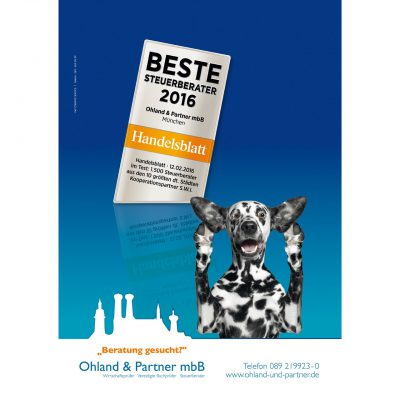 Din A1 Plakatwerbung für Steuerberater in München