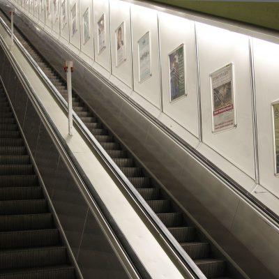 Werbeplakate an Bahnhof in München