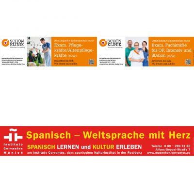 Werbung in U-Bahn und S-Bahn in München