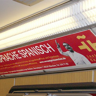 Werbeplakat in U-Bahn