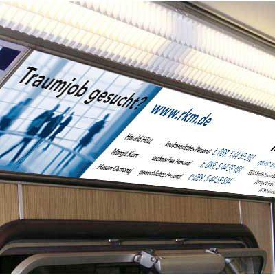 Werbung in Bahn