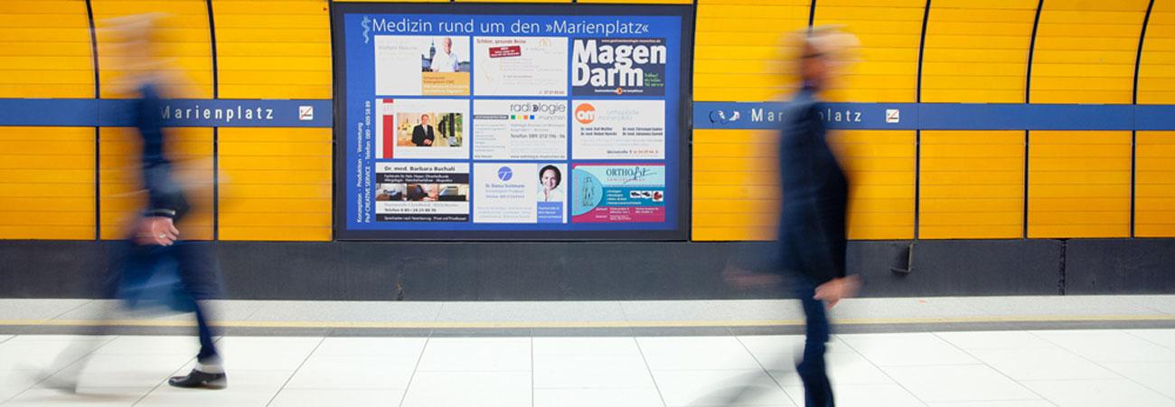 Hintergleiswerbung München
